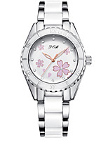 cheap -DOM Women's Quartz Watches Quartz Modern Style Stylish Casual Water Resistant / Waterproof Ceramic Analog - White Blushing Pink
