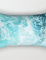 cheap -1 Pc Cotton Linen Decorative Lumbar Throw Pillow Cover Rectangular Pillowcase Cushion Cover for Bed Couch Sofa 12*20 Inches 30*50cm