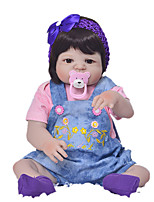 cheap -KEIUMI 22 inch Reborn Doll Baby & Toddler Toy Reborn Toddler Doll Baby Girl Gift Cute Washable Lovely Parent-Child Interaction Full Body Silicone 23D01-C80-H42 with Clothes and Accessories for Girls