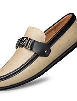 cheap -Men's Fall Daily Loafers & Slip-Ons PU Light Brown / Black / Khaki