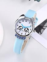 cheap -Kids Quartz Watches Quartz Modern Style Stylish Casual Chronograph PU Leather White / Blue / Pink Analog - White Blue Blushing Pink