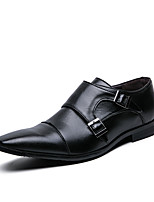 cheap -Men's Spring / Fall Classic / Vintage / British Party & Evening Office & Career Oxfords Microfiber Non-slipping Black / Brown / Square Toe