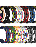 cheap -Replacement 20mm Silicone Sport Striped Smart Strap for Samsung Galaxy Watch 42mm Watch Band
