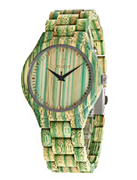 cheap -Men's Sport Watch Quartz Modern Style Stylish Casual Water Resistant / Waterproof Wood Analog - Green