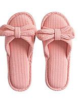cheap -Women's Slippers & Flip-Flops Fall Flat Heel Open Toe Daily Cotton Pink / Khaki / Green