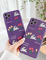 cheap -Case For Apple iPhone 7 8 7plus 8plus X XR XS XSMax SE(2020) iPhone 11 11Pro 11ProMax Shockproof Pattern Back Cover Animal Cartoon Flower TPU