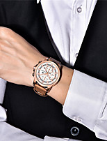 cheap -PAGANI Men's Sport Watch Quartz Modern Style Sporty Casual Water Resistant / Waterproof Leather Analog - Golden / Brown Brown / Stainless Steel / Calendar / date / day / Chronograph / Noctilucent