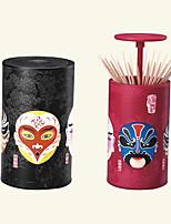 cheap -Toothpick Box Chinese Peking Opera Automatic Cans Household Storage