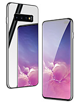 cheap -Case For Samsung Galaxy S9 s9plus s10 s10plus s10lite Shockproof Plating Mirror Back Cover Solid Colored TPU Tempered Glass