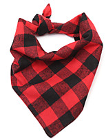 cheap -Dog Cat Bandanas & Hats Dog Bandana Dog Bibs Scarf Plaid / Check Casual / Sporty Cute Sports Casual / Daily Dog Clothes Breathable Red Costume Cotton S M