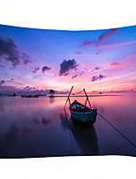 cheap -Boat Sea Sunset Classic Theme Wall Decor 100% Polyester Contemporary Wall Art Wall Tapestries Decoration