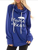 cheap -Women's Pullover Hoodie Sweatshirt Letter Casual Hoodies Sweatshirts  Cotton Loose Black Blue Purple