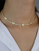cheap -Women's Choker Necklace Chain Necklace Butterfly Dainty European Trendy Fashion Imitation Diamond Alloy Gold Silver 42 cm Necklace Jewelry For Party Evening Gift Masquerade Street Beach