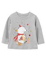 cheap -Kids Boys' Basic Animal Print Long Sleeve Tee Gray