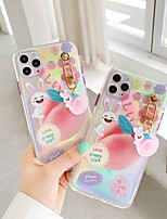 cheap -Case For Apple iPhone 11 / iPhone 11 Pro / iPhone 11 Pro Max Translucent / Pattern Back Cover Word / Phrase / Cartoon TPU