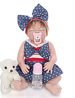 cheap -KEIUMI 22 inch Reborn Doll Baby & Toddler Toy Reborn Toddler Doll Baby Girl Gift Cute Washable Lovely Parent-Child Interaction Full Body Silicone 23D36-C316-T19 with Clothes and Accessories for