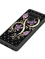 cheap -Case For LG V60 Stylo 6 G9 Shockproof  Rhinestone  Pattern Back Cover Butterfly Animal Flower TPU PC