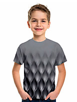 cheap -Kids Boys' Sports & Outdoors Basic Holiday 3D Short Sleeve Tee Gray