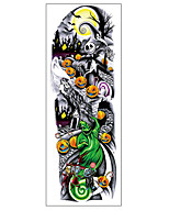 cheap -1Sheets Full Arm Temporary Tattoo Stickers Waterproof Temporary Tattoo,Black Body Tattoo Stickers For Women,Men ,QB3001-3008