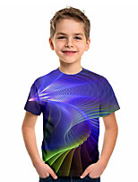 cheap -Kids Boys' Basic Geometric Short Sleeve Tee Blue