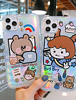 cheap -Case For APPLE  iPhone 6 7 8 6plus 7plus 8plus  XR XS XSMAX  X 11 11Pro 11ProMax Pattern Back Cover Word Phrase Transparent Cartoon TPU