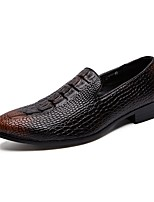 cheap -Men's Summer Daily Loafers & Slip-Ons PU Black / Brown