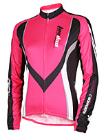 cheap -TASDAN Women's Long Sleeve Cycling Jersey Winter Polyester Red Blue Stripes Patchwork Bike Jersey Top Mountain Bike MTB Road Bike Cycling Breathable Quick Dry Reflective Strips Sports Clothing Apparel