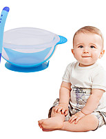 cheap -Baby Learning Dishes with Suction Cup Kids Safety Dinnerware Set Assist Bowl Temperature Sensing Spoon Tableware Training Bowl Random Color