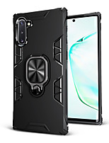 cheap -Case For Samsung Galaxy Galaxy M10(2019) / Galaxy Note 10 / Galaxy Note 10 Plus Shockproof / Ring Holder Back Cover Solid Colored TPU / PC