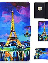 cheap -Case For Samsung Galaxy Tab A 10.1(2019)T510 Tab A 8.0(2019)T290 T295 TAB A 10.1 T580N T585C P610 T350 Card Holder with Stand Pattern Full Body Cases Eiffel Tower PU Leather