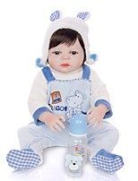 cheap -KEIUMI 22 inch Reborn Doll Baby & Toddler Toy Reborn Toddler Doll Baby Boy Gift Cute Lovely Parent-Child Interaction Tipped and Sealed Nails Full Body Silicone 23D52-C219 with Clothes and Accessories