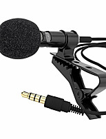 cheap -Microphone Clip-on Collar Tie Mobile Phone Lavalier Microphone Mic for ios Android Cell Phone Laptop Tablet Recording