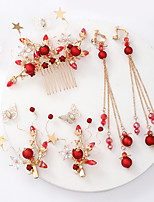 cheap -Women's Bridal Jewelry Sets Sweet Fashion Earrings Jewelry Red For Wedding Party 1 set
