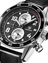 cheap -BENYAR Men's Sport Watch Quartz Modern Style Stylish Classic Water Resistant / Waterproof Stainless Steel Leather Black / Silver Analog - Black / Silver Black Black / White / Calendar / date / day