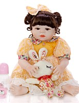 cheap -KEIUMI 22 inch Reborn Doll Baby & Toddler Toy Reborn Toddler Doll Baby Girl Gift Cute Washable Lovely Parent-Child Interaction Full Body Silicone 23D97-C145-T23 with Clothes and Accessories for