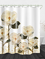 cheap -Phnom Penh Flowers Digital Print Waterproof Fabric Shower Curtain For Bathroom Home Decor Covered Bathtub Curtains Liner Includes With Hooks