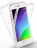 cheap -Case For Apple iPhone 5 iPhone6 iPhone 7 iPhone 8 iPhone 7P iPhone 8P iPhone XR iPhone X iPhone XS Max iPhone XS iPhone 6 Plus Transparent Full Body Cases Transparent TPU
