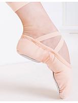 cheap -Women's Dance Shoes Latin Shoes Flat Flat Heel Pink / Coffee / Leather