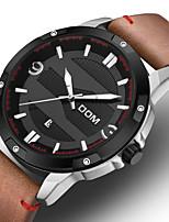 cheap -DOM Men's Sport Watch Quartz Vintage Style Casual Water Resistant / Waterproof Leather Black / Brown Analog - Digital - Black / Silver Black / Orange Brown / Noctilucent