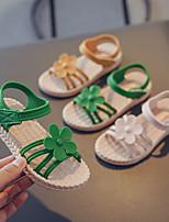 cheap -Girls' Sandals Comfort PU Little Kids(4-7ys) / Big Kids(7years +) Black / Yellow / Pink Summer / Fall