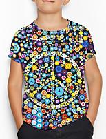cheap -Kids Boys' Basic Geometric Print Short Sleeve Tee Rainbow