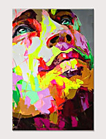 cheap -Palette knife Abstract People Face Art Paintings Canvas Wall Art Modern Home living room Office Decor Abstract Painting Rolled Without Frame