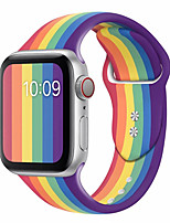 cheap -Sport band for apple watch series 5 4 3 2 1 with pin&tuck closure Silicone strap for iWatch replacement 2020 Pride edition Rainbow