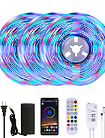 cheap -MASHANG Bright RGBW LED Strip Lights 15M Music Sync Smart LED Lights Tiktok Lights 3510LEDs SMD 2835 Color Changing with 24 keys Remote Bluetooth Controller for Home Bedroom TV Back Lights DIY Deco