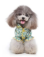 cheap -Dog Shirt / T-Shirt Pajamas Flower Casual / Sporty Cute Sports Casual / Daily Dog Clothes Warm Green Costume Cotton S M L XL XXL