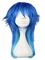 cheap -Synthetic Wig Cosplay Wig Aoba Seragak Dramatical Murder Straight Cosplay With Bangs Wig Medium Length Silver Ombre Blue Royal Blue Synthetic Hair 20 inch Women's Cosplay Synthetic Blue hairjoy