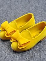 cheap -Girls' Flats Comfort PU Little Kids(4-7ys) Yellow / Peach / Green Summer