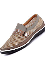 cheap -Men's Summer / Fall Casual / Preppy Daily Outdoor Loafers & Slip-Ons Mesh Non-slipping Wear Proof Beige / Gray / Coffee