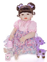 cheap -KEIUMI 22 inch Reborn Doll Baby & Toddler Toy Reborn Toddler Doll Baby Girl Gift Cute Washable Lovely Parent-Child Interaction Full Body Silicone 23D97-C140-H120-T04 with Clothes and Accessories for
