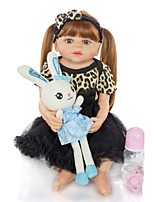 cheap -KEIUMI 22 inch Reborn Doll Baby & Toddler Toy Reborn Toddler Doll Baby Girl Gift Cute Lovely Parent-Child Interaction Tipped and Sealed Nails Full Body Silicone 22D11-C278-T22 with Clothes and